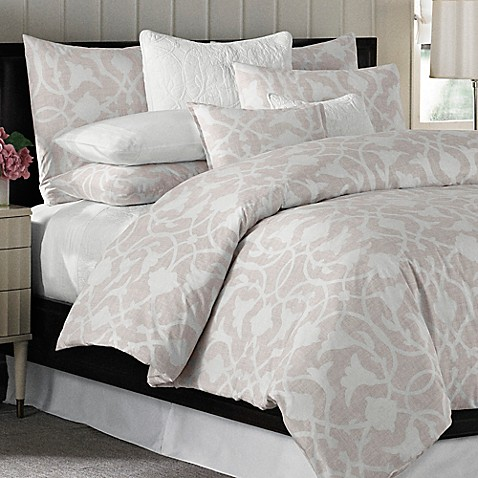 Barbara Barry 174 Poetical Duvet Cover In Pink Blush Bed