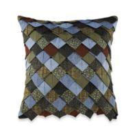 Donna Sharp Bear Lake Roof Tile Square Throw Pillow