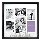 Occasions Mr. and Mrs. 7-Photo Wedding Collage Frame