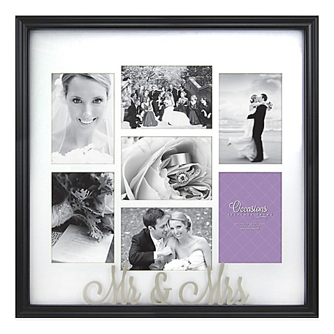 Occasions Mr And Mrs 7 Photo Wedding Collage Frame Bed