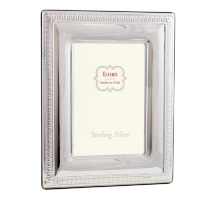 eccolo sterling silver 8 inch x 10 inch picture frame with greek key