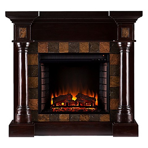 buy convertible electric fireplace in espresso