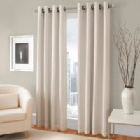 Majestic 108-Inch Blackout Lined Grommet Window Curtain Panel in Champagne