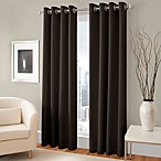 Majestic 84-Inch Blackout Lined Grommet Window Curtain Panel in Espresso
