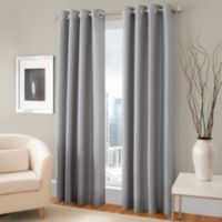 Majestic Steel 84-Inch Blackout Lined Grommet Window Curtain Panel in Steel