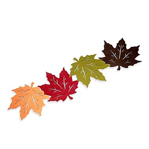 Nice Felt Leaves 54 Inch Table Runner