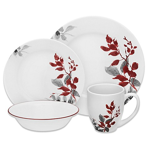 Corelle 174 Boutique Kyoto Leaves Dinnerware Collection Bed