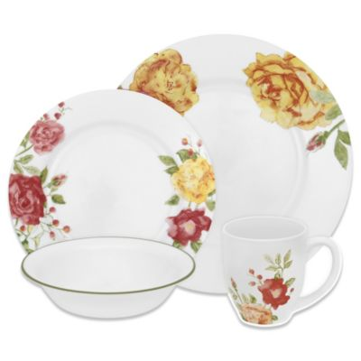 Corelle® Boutique Emma Jane 16-Piece Dinnerware Set  sc 1 st  Bed Bath \u0026 Beyond & Buy Corelle Dinnerware from Bed Bath \u0026 Beyond