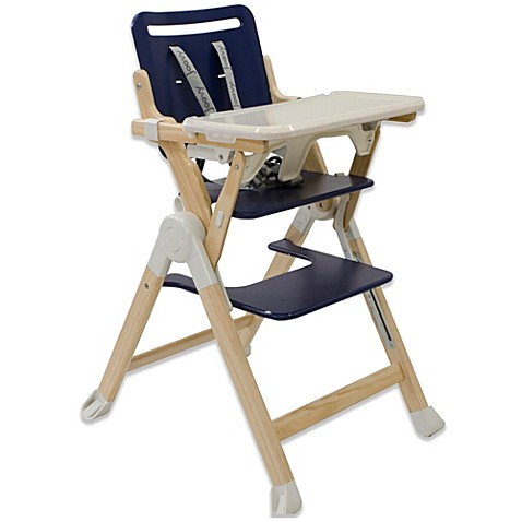 Joovy 174 Wood Nook High Chair In Blueberry Buybuy Baby