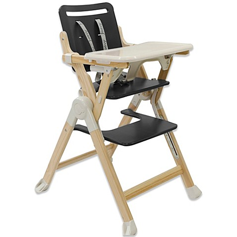 Joovy Wood Nook High Chair in Charcoal BABY