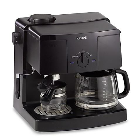 krups model xp1500 espresso machine and coffee maker bed bath beyond. Black Bedroom Furniture Sets. Home Design Ideas