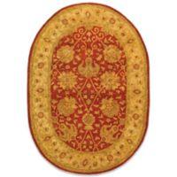 "Safavieh Antiquities Rust Wool 4' 6"" x 6' 6""' Oval Rug"