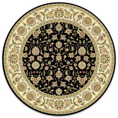 Safavieh Lyndhurst Black Scroll Pattern 8-Foot Round Rug - Buy 8-Foot Round Rug From Bed Bath & Beyond