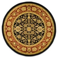 Safavieh Lyndhurst Collection8-Foot Round Rug in Black and Red