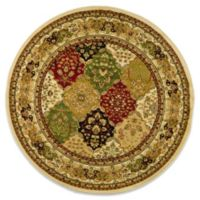 Safavieh Lyndhurst Diamond Patchwork 5-Foot 3-Inch Round Rug in Ivory/Multi