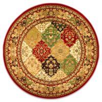 Safavieh Lyndhurst Diamond Patchwork 8-Foot Round Rug in Red