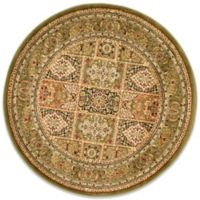 Safavieh Lyndhurst Collection 5-Foot 3-Inch x 5-Foot 3-Inch Patchwork Round Rug in Green