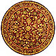 Safavieh Antiquities 6-Foot Round Rug in Wine