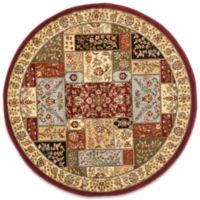 Safavieh Lyndhurst Floral Patchwork 5-Foot Round Rug in Tan