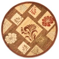 Safavieh Brighton 5-Foot 3-Inch Round Rug in Brown/Multi