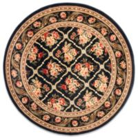 Safavieh Courtland Black 5-Foot 3-Inch Round Rug