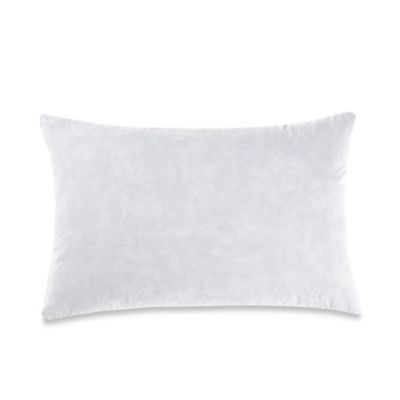 feather throw pillow insert in white