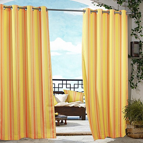 Door Curtains all weather outdoor curtains : Outdoor Curtains For Patio. Allweather Drapery Adds A Soft ...