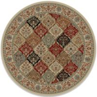 Concord Global Bakhtiar 5-Foot 3-Inch Round Rug in Ivory