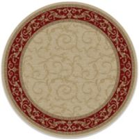 Veronica 5-Foot 3-Inch Round Indoor Rug in Ivory