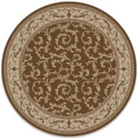 Concord Global Veronica 63-Inch Round Rug in Brown