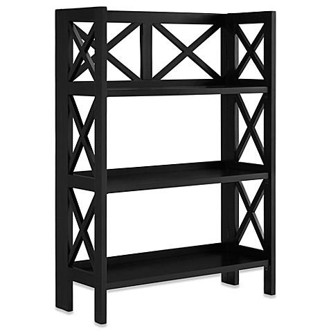 3-Shelf Folding Bookcase