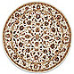 Safavieh Chelsea Collection Wool 8-Foot Round Rug in Ivory