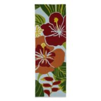 Kaleen Matira Tropical 2-Foot x 6-Foot Indoor/Outdoor Rug in Blue Floral