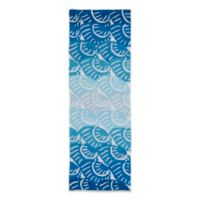 Kaleen Matira Shell 2-Foot x 6-Foot Indoor/Outdoor Rug in Blue
