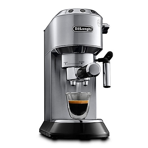 de 39 longhi dedica pump espresso cappuccino machine bed bath beyond. Black Bedroom Furniture Sets. Home Design Ideas