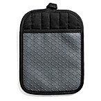 Silicone Quilted Pot Holder in Dark Grey
