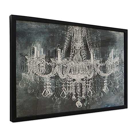 Nice Silver And Black Chandelier Wall Art With Black Frame