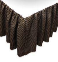 Austin Horn Classics Verona King Bed Skirt in Black/Gold