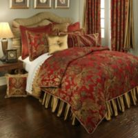 Austin Horn Classics Verona King Duvet Cover in Red/Gold