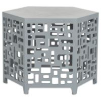 Safavieh Kelby End Table in Pearl/Blue/Grey