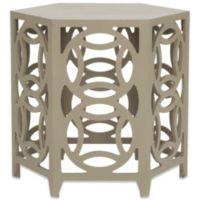 Safavieh Natanya Wood Side Table in Pearl Taupe