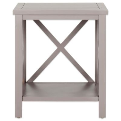 Safavieh Candace Cross Back End Table In Grey