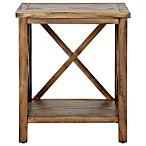 Safavieh Candace Cross-Back End Table in Oak