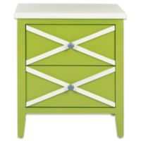 Safavieh Sherrilyn 2-Drawer Side Table in Green/White