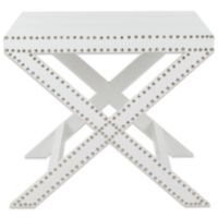 Safavieh Jeanine X End Table in White