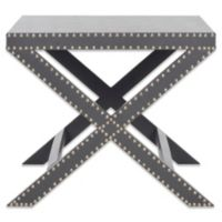 Safavieh Jeanine X End Table in Grey