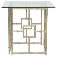 Safavieh Dermot Accent Table in Silver/Clear