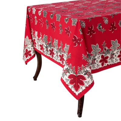 Superb Botanique 70 Inch X 90 Inch Tablecloth In Red