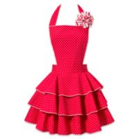 Carolyn's Kitchen Petite Dot Party Apron in Red