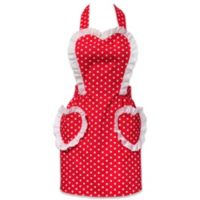 Carolyn's Kitchen Glamour Girl Retro Apron in Red